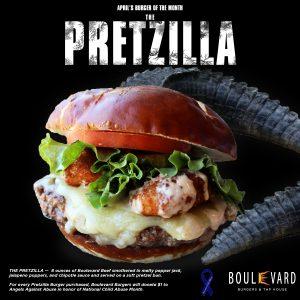 The Pretzilla Burger, available all of April, 2017