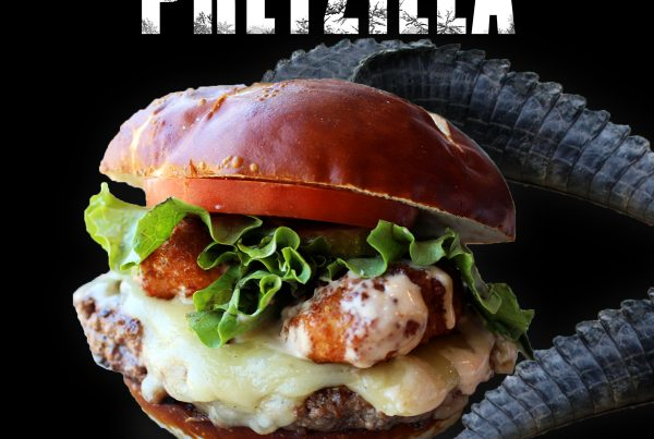 The Pretzilla Burger, available all of April, 2017