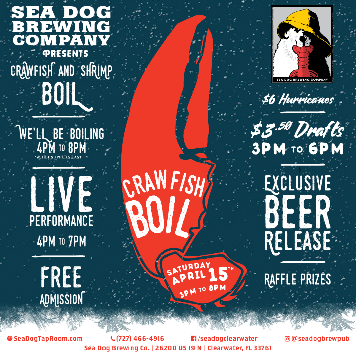 "Client News: Sea Dog Brewing Presents ""Crawfish & Crafts"", benefitting Habitat for Humanity"