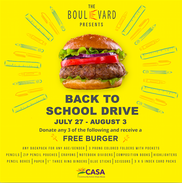 Boulevard Burgers & Tap House Gives Big for CASA