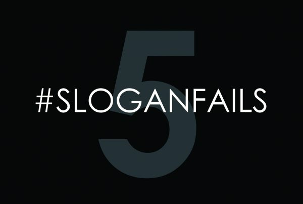 brand slogan fail - image depicting the number five with the hashtag sloganfails