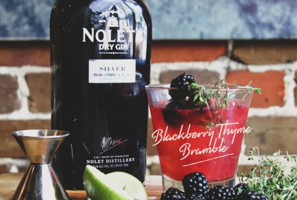 oyster bar spring cocktail blackberry bramble gin