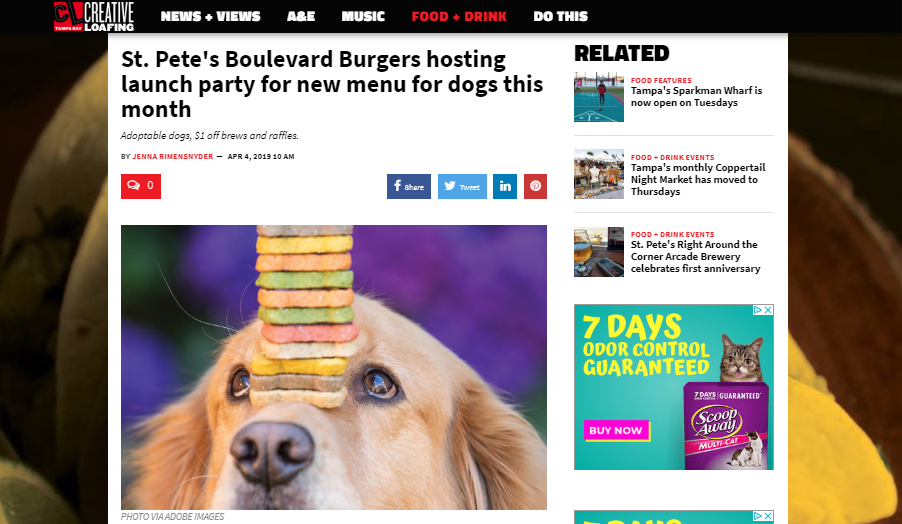Boulevard Burgers & Tap House Gives Fido a Seat at the Table