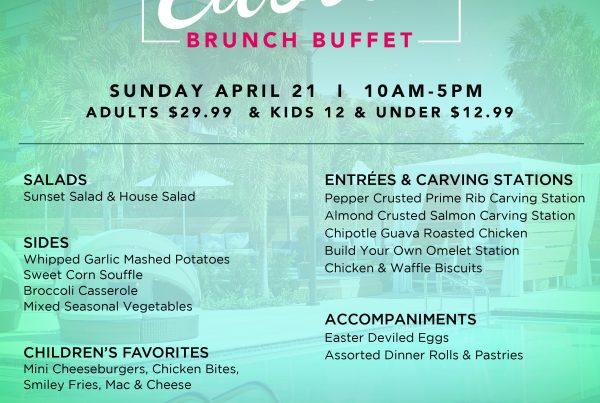 easter brunch buffet godfrey hotel tampa wtr evolve & co