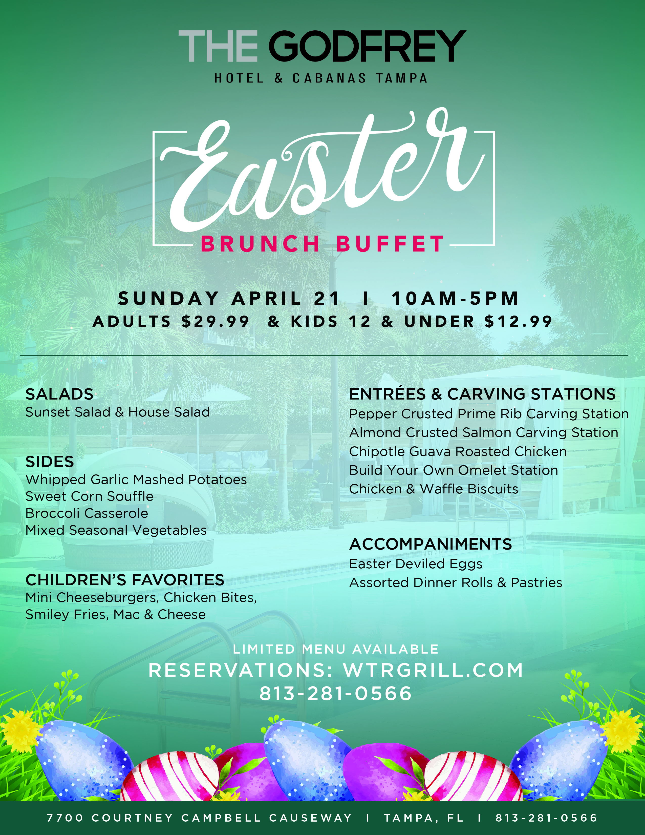 Godfrey Hotel & Cabanas To Host Easter Day Buffet on Waterfront