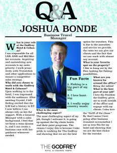 Joshua Bonde godfrey hotel tampa business travel sales