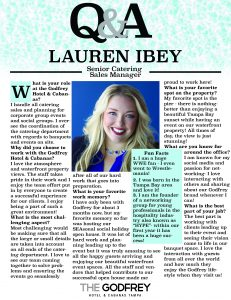 Lauren Ibey godfrey hotel tampa catering sales manager