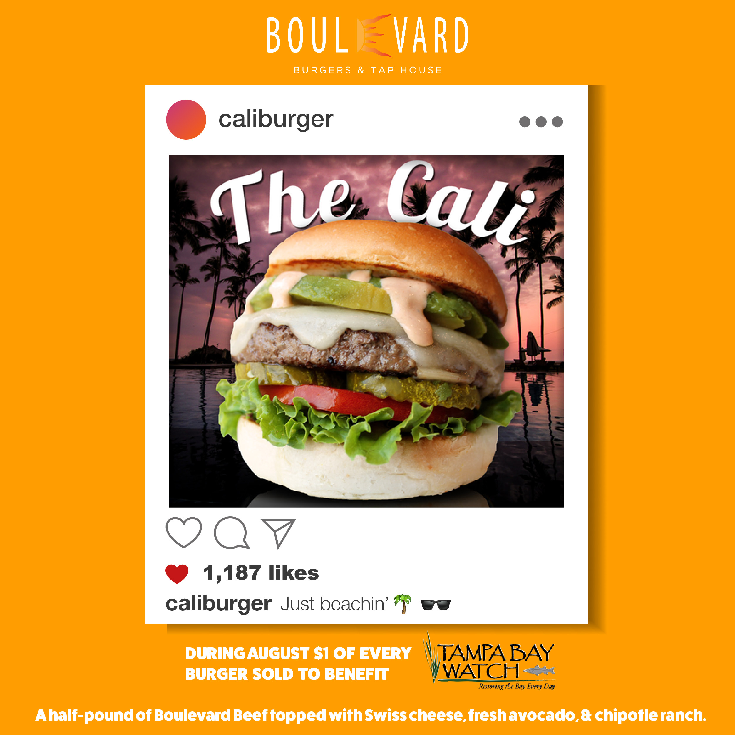 Boulevard Burgers & Tap House Partners with Tampa Bay Watch