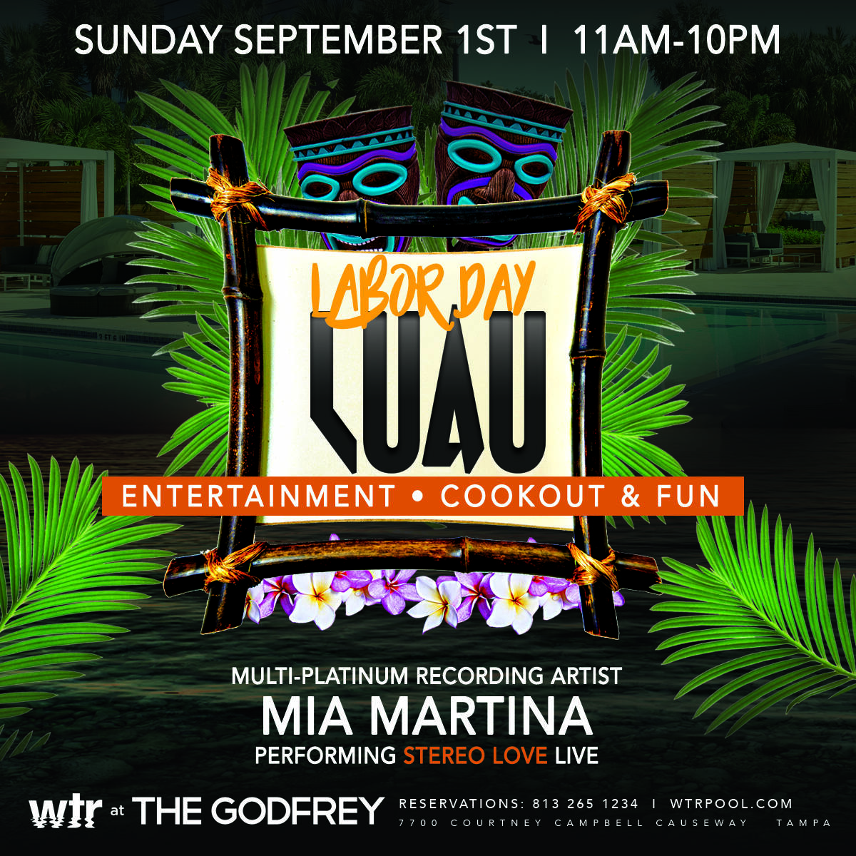 wtr pool grill labor day luau evolve & co tampa bay