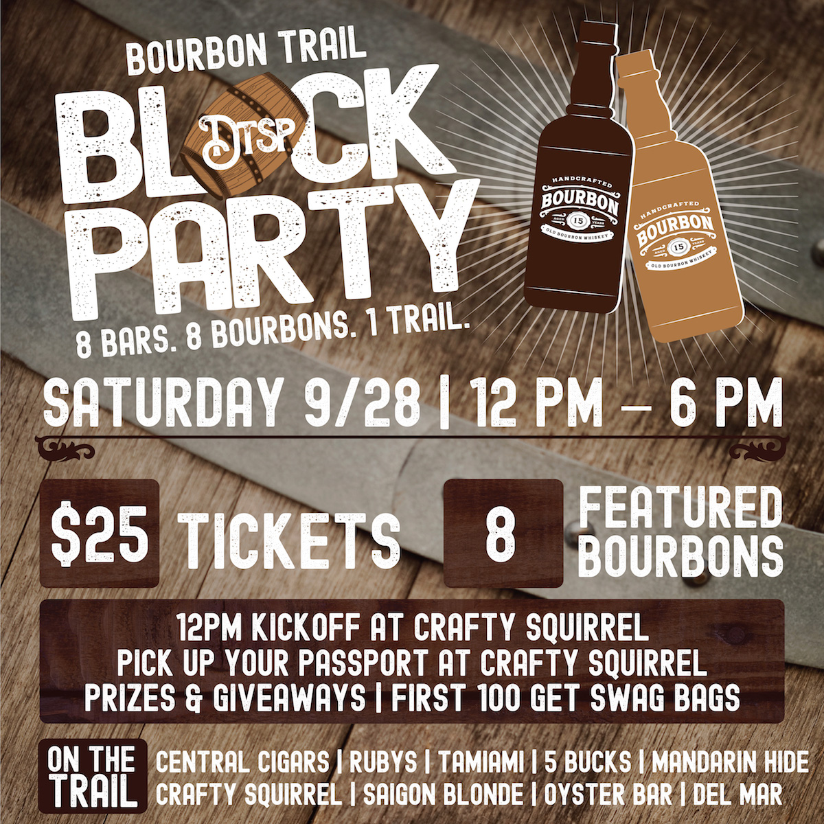 Calling All Bourbon Lovers for a Downtown St. Pete Bourbon Trail Block Party