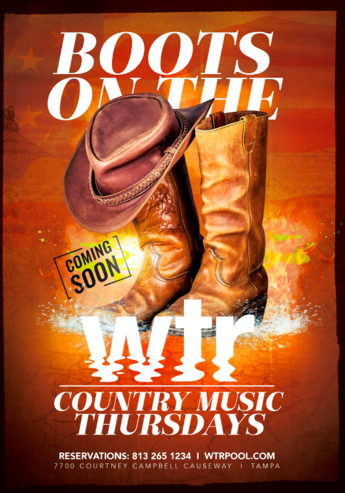 The Godfrey Hotel & Cabanas Presents 'Boots on the WTR', a Country Music Series