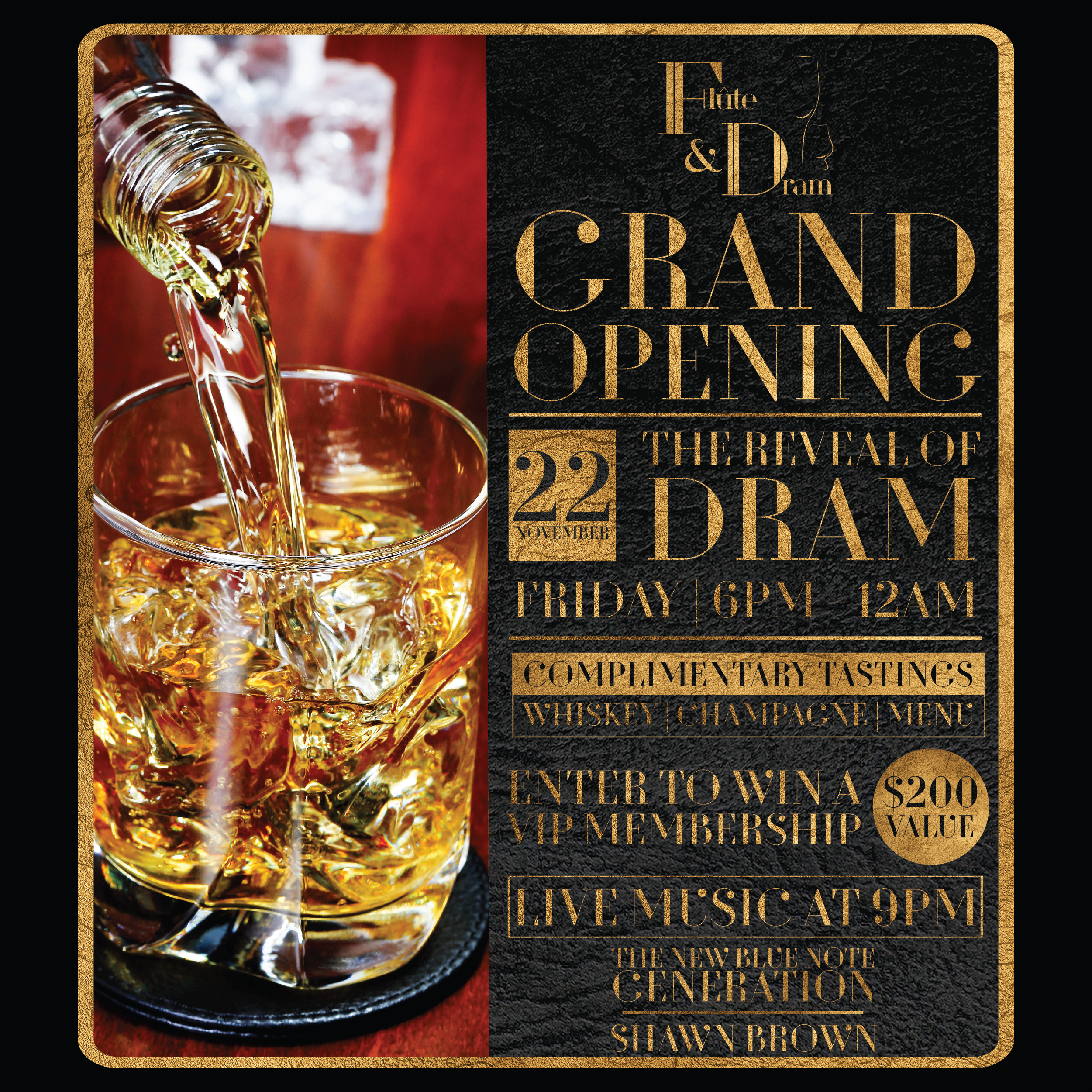 Beach Drive's 'Flute and Dram' Hosts Grand Opening Reception