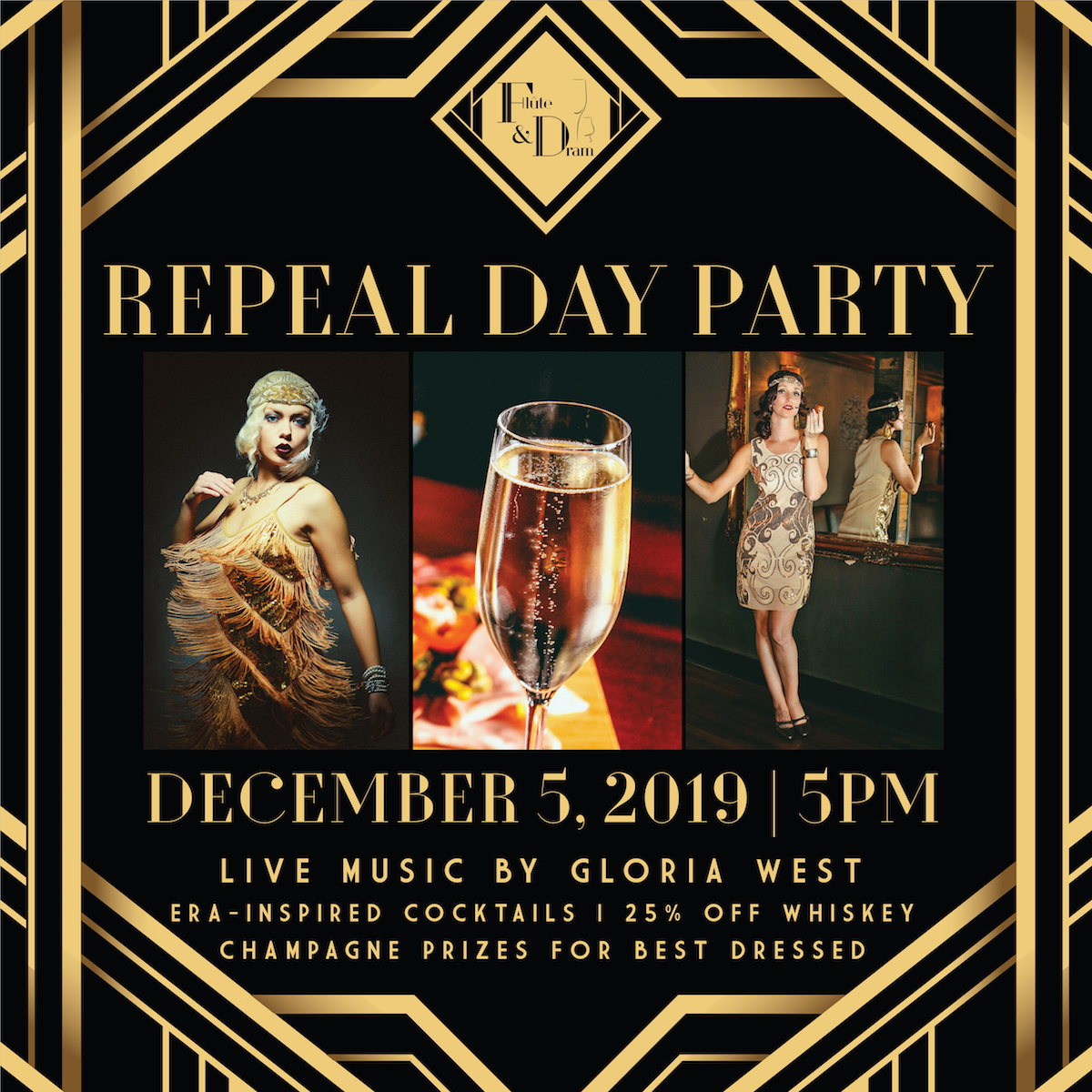 Break out the Fringe and Fedoras, Flute & Dram is Celebrating Repeal Day in Style