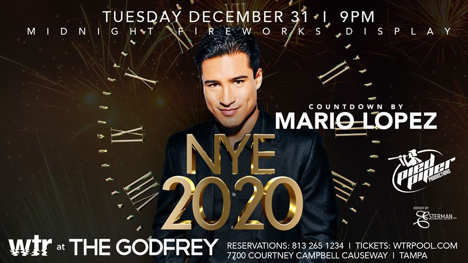 Mario Lopez Hosts 2020 New Years Eve Bash at WTR Pool & Grill