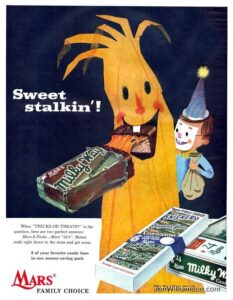 vintage halloween ad milky way