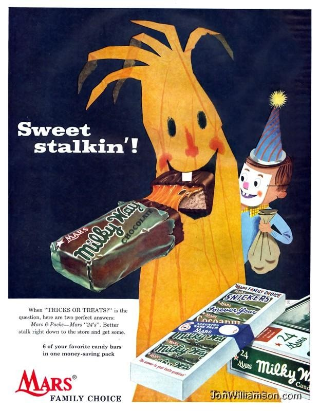 vintage halloween ad milky way