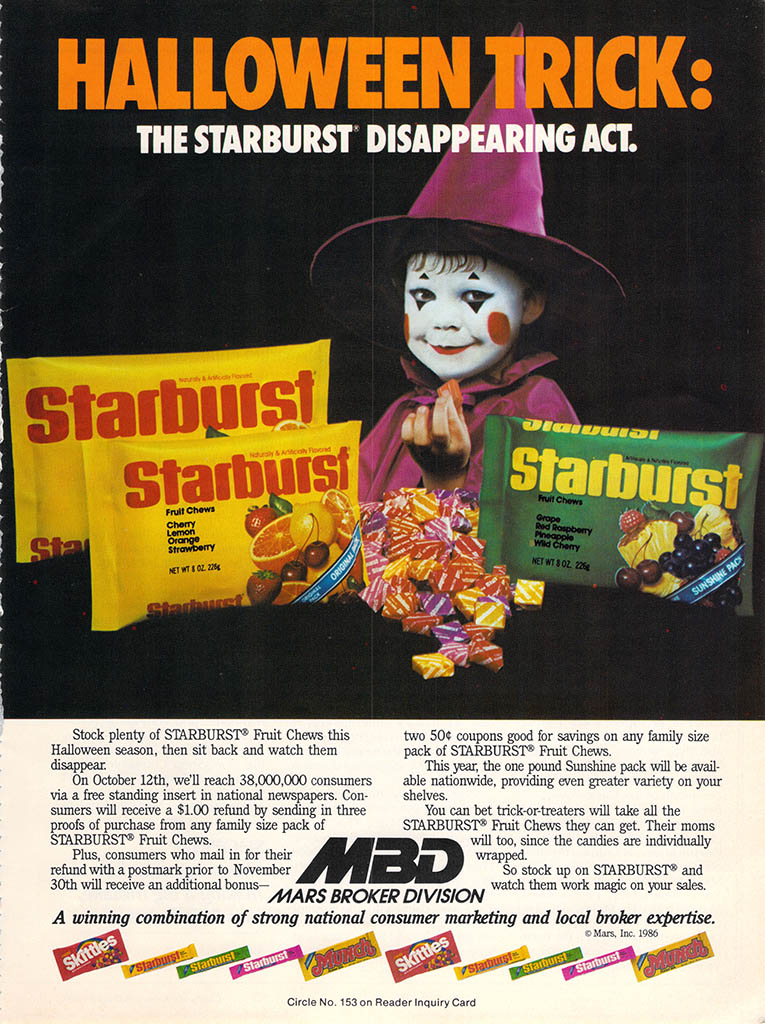 Halloween Candy Ads From the Past