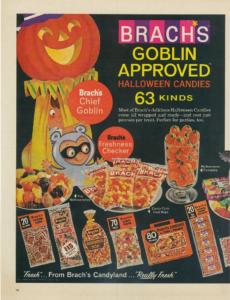 brach's vintage halloween candy ad