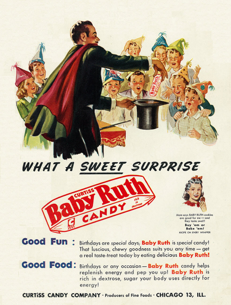 baby ruth vintage halloween candy ad