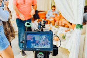 Cameramen on commercial set