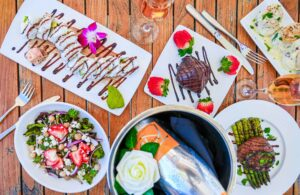 Food overhead at the Godfrey Hotel and Cabanas Tampa