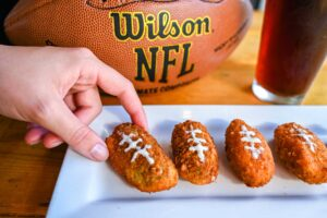 Football jalapeno poppers at the Boulevard Burgers and Taphouse