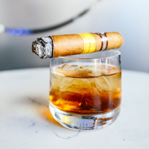 Drink and cigar at Flute & Dram on Beach Drive in downtown St. Petersburg