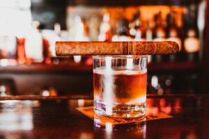Drink and cigar at Ruby's Elixir and Central Cigars in downtown St. Petersburg, FL
