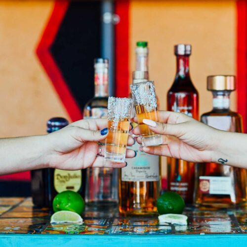 Tequila cheers at Nueva Cantina