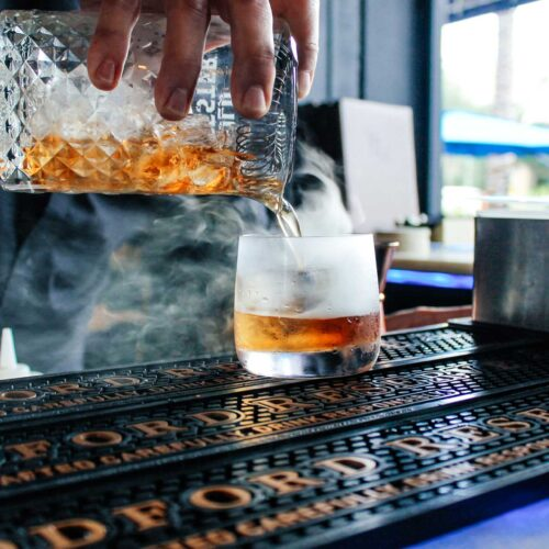 Smoking cocktail at Flute & Dram on Beach Drive in downtown St. Petersburg