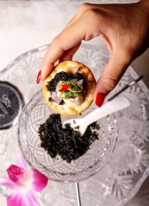 Caviar at Flute & Dram on Beach Drive in downtown St. Petersburg