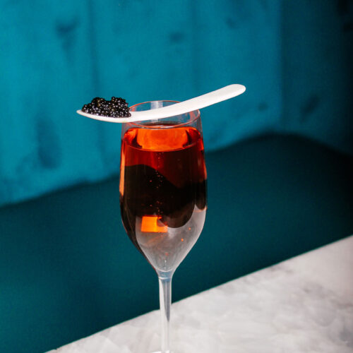 Drink and caviar at Flute & Dram on Beach Drive in downtown St. Petersburg