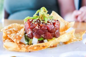 Ahi tuna stack at the Boulevard Burgers and Taphouse