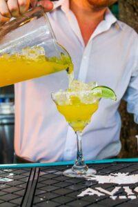 Margarita pour at Nueva Cantina