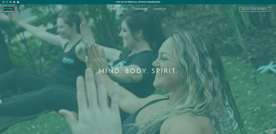 Evolve & Co Reimagines Website for Pure Strength & Movement