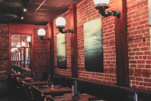 Interior at the Oyster Bar in downtown St. Petersburg, FL
