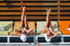 Women at the pool at The Sarasota Modern