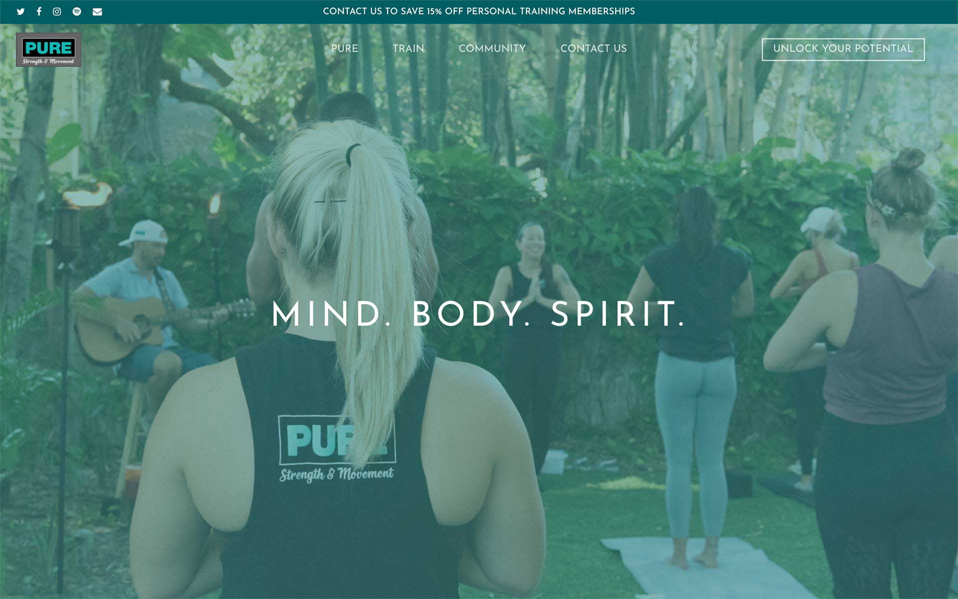 Pure Strength and Movement website