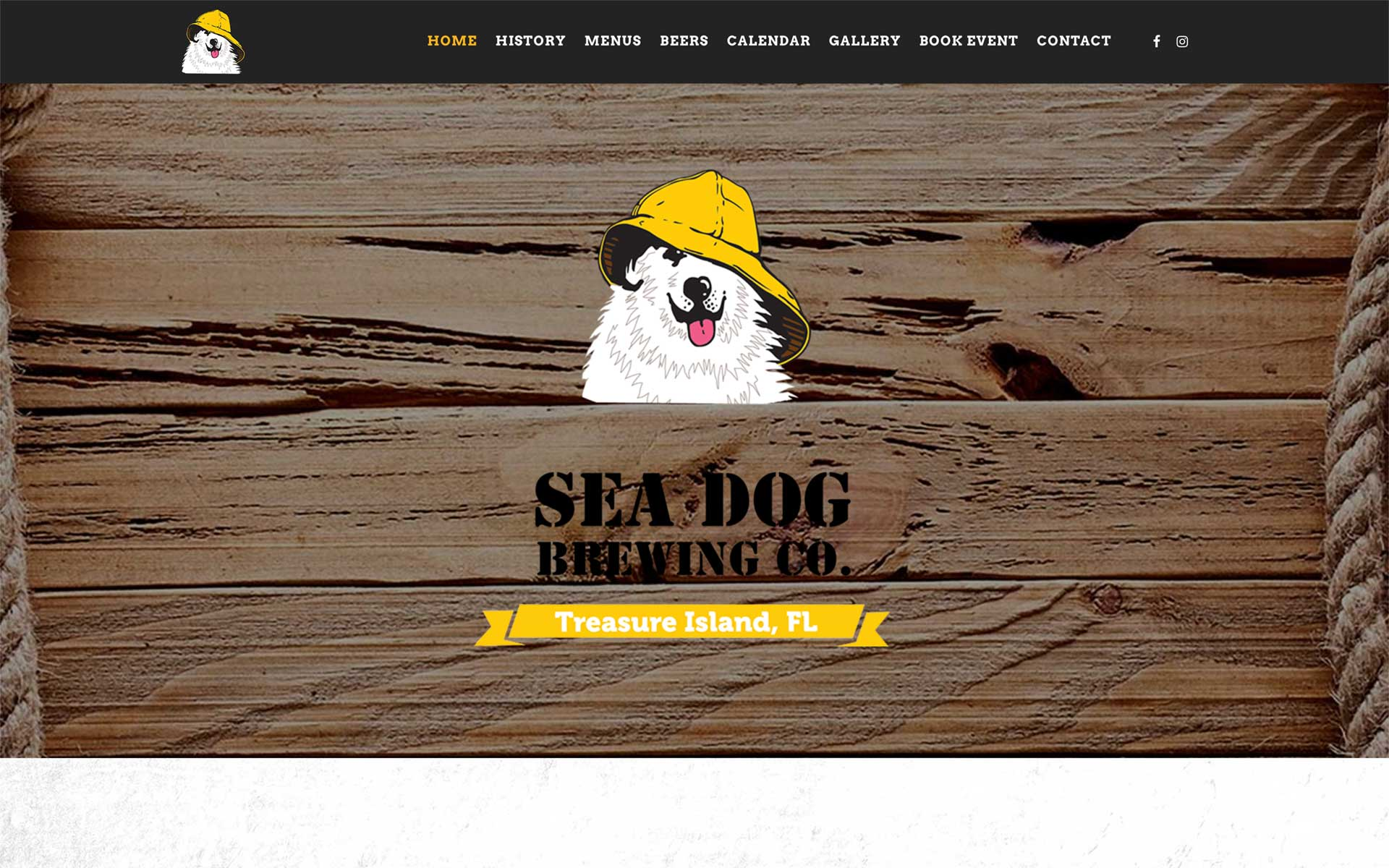 Sea Dog Treasure Island Website