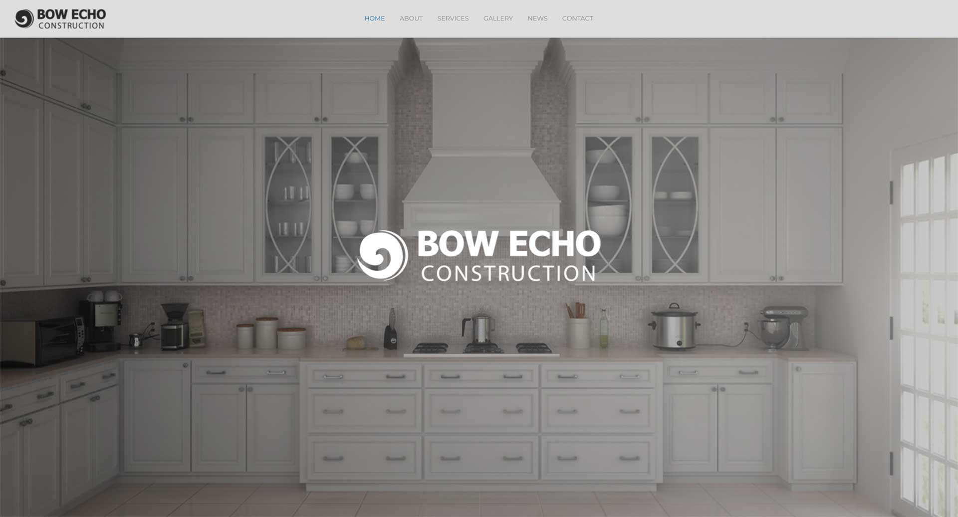 Bow Echo Construction website