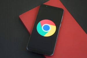 Google icon on a phone