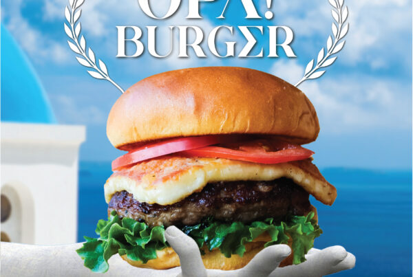 The OPA! Burger Makes a Spark at Boulevard Burgers & Tap House this February