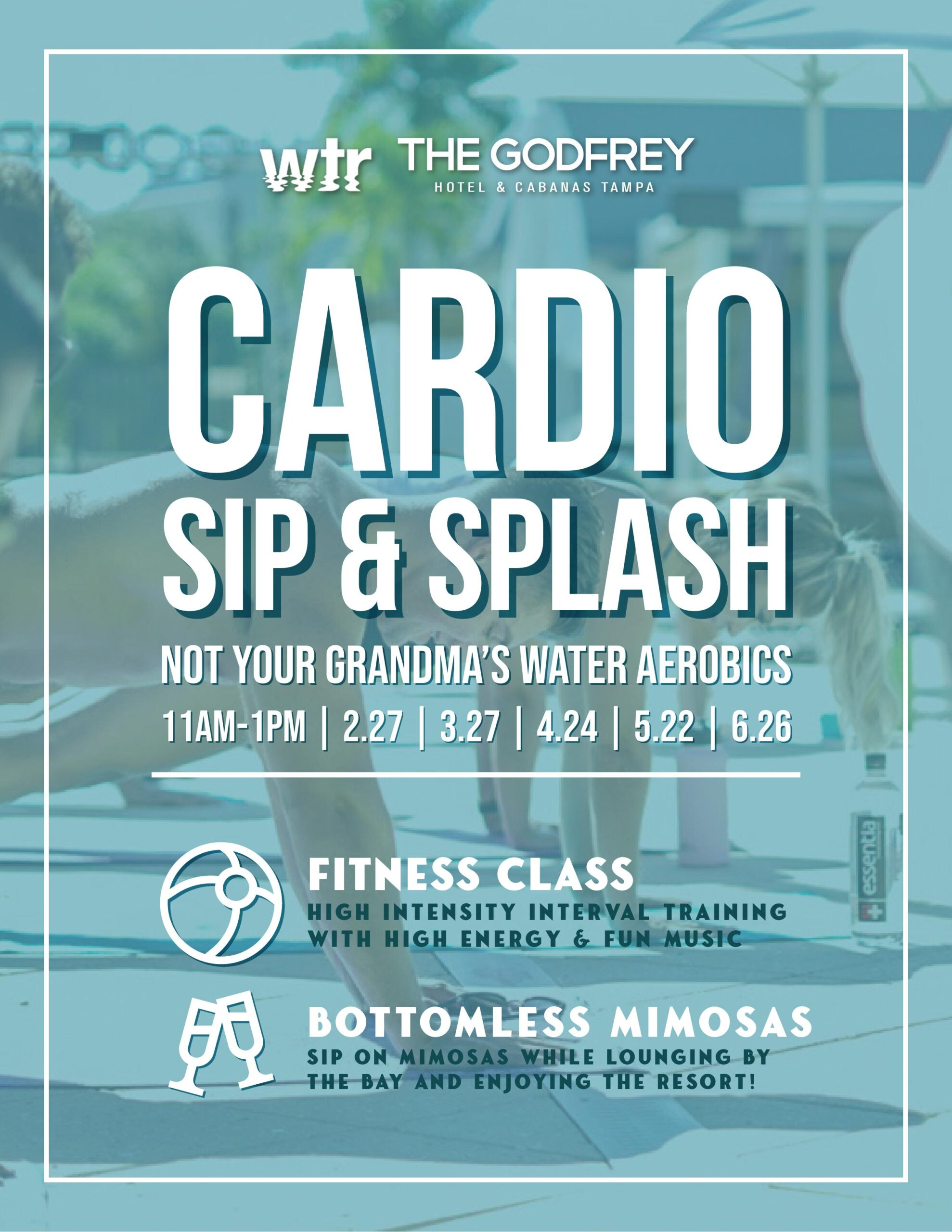 A Waterfront Playground: The Godfrey Hotel & Cabanas Introduces Namaste & Rosé, Grind & Cycle, Cardio Sip & Splash, and Stand Up Paddle Board