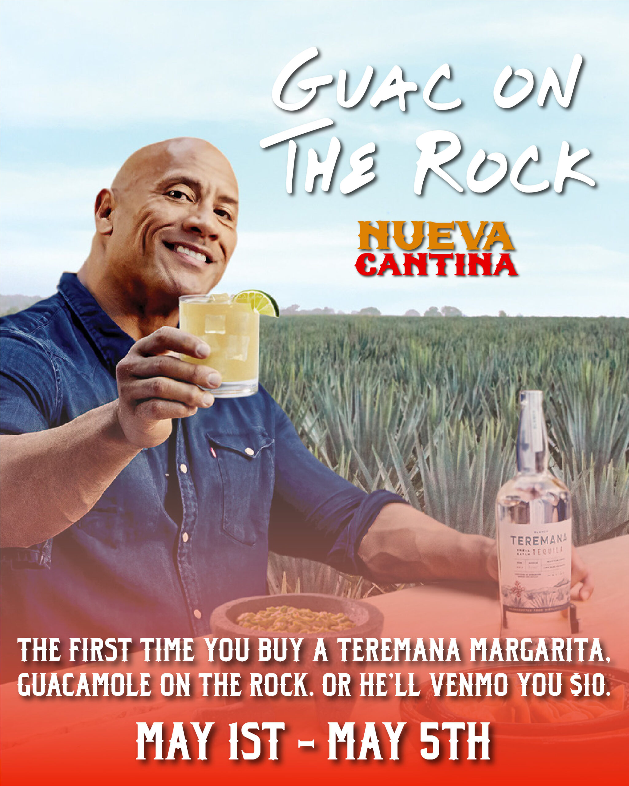 """Dwayne """"The Rock"""" Johnson Will Buy Your Guacamole at South St. Pete's Nueva Cantina"""