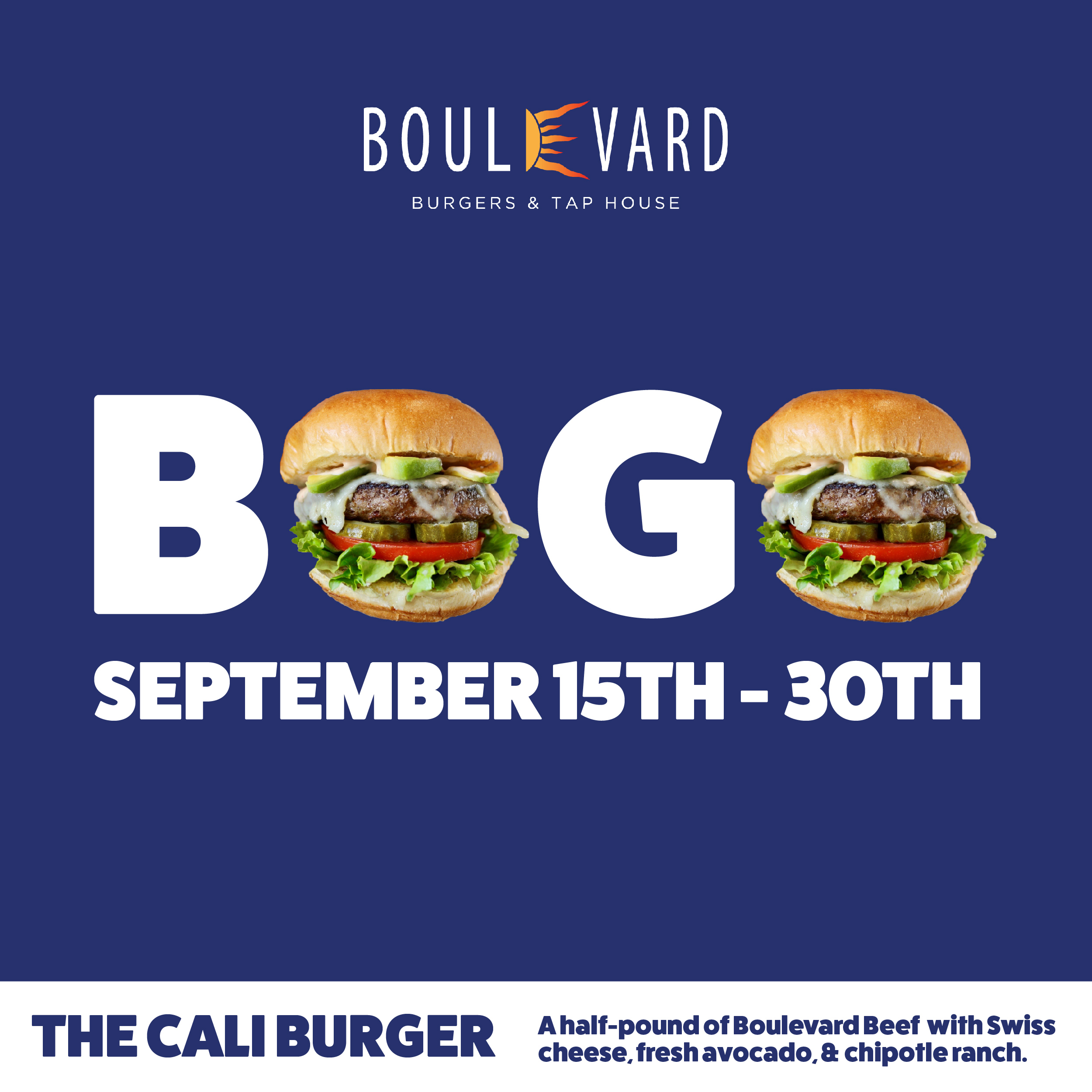Buy One Get One Free Gourmet Burgers on St Pete Beach